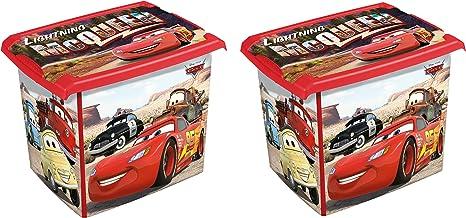 2 x Caja para juguetes juguete caja Fashion Caja de Disney Cars 20 L