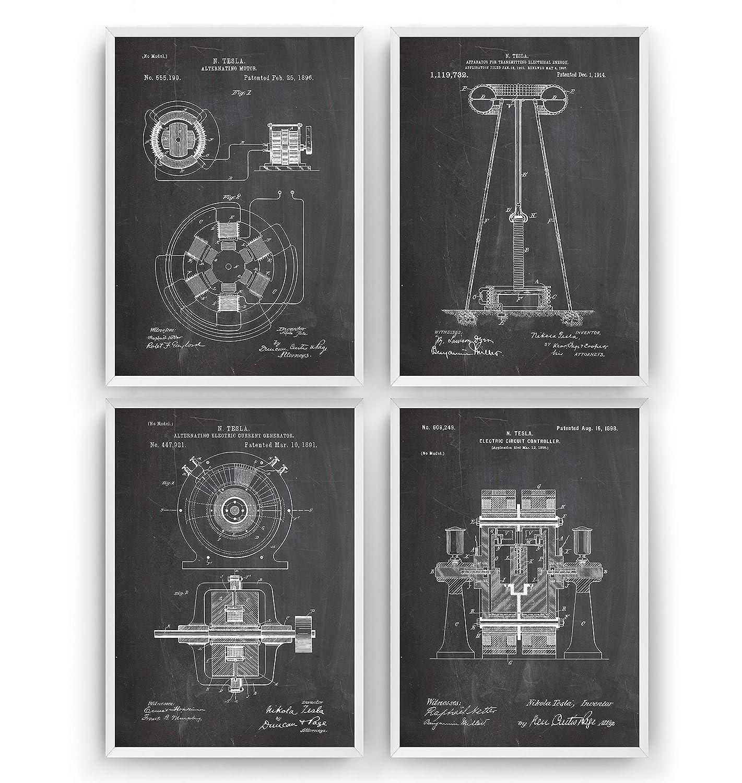 Vintage Tesla Electronics Company Advertising Poster A3 Print
