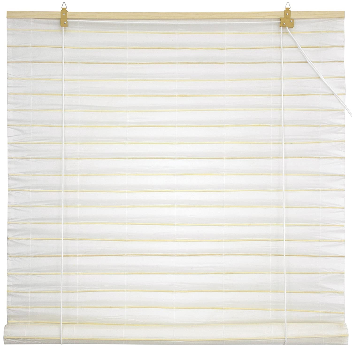 Oriental Furniture Shoji Paper Roll Up Blinds - White - (24 in. x 72 in.) WT-YJ1-9P-24W