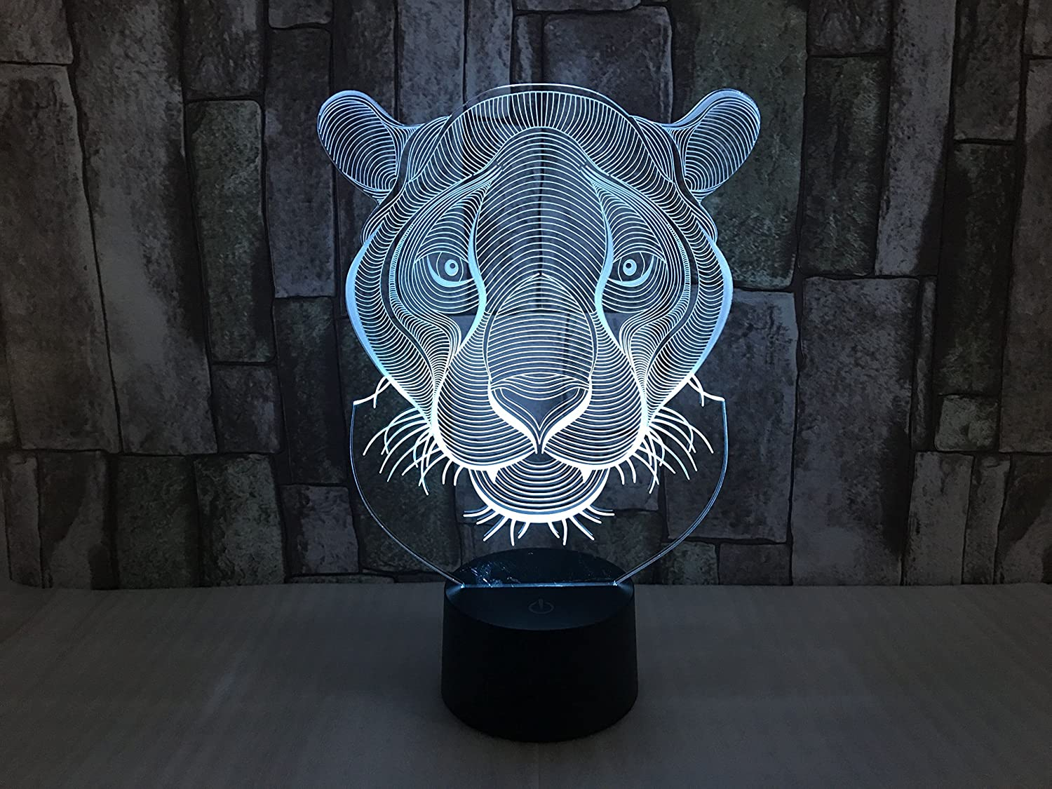 YOUQIZHI 3D LED Lion Amazing light visual effects Seven colors ...