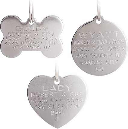 GW Metal Paw Pet Tag With Personalised Back-Engraving for Dog Cat Pets HOT