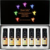 Chakra Set - Essential Oils in Apricot Kernel Oil. Use with Aroma Diffuser, Burner During Yoga, Meditation for Balancing and Healing or to Awaken Kundalini. Apply to Aromatherapy Bracelet or Crystals.