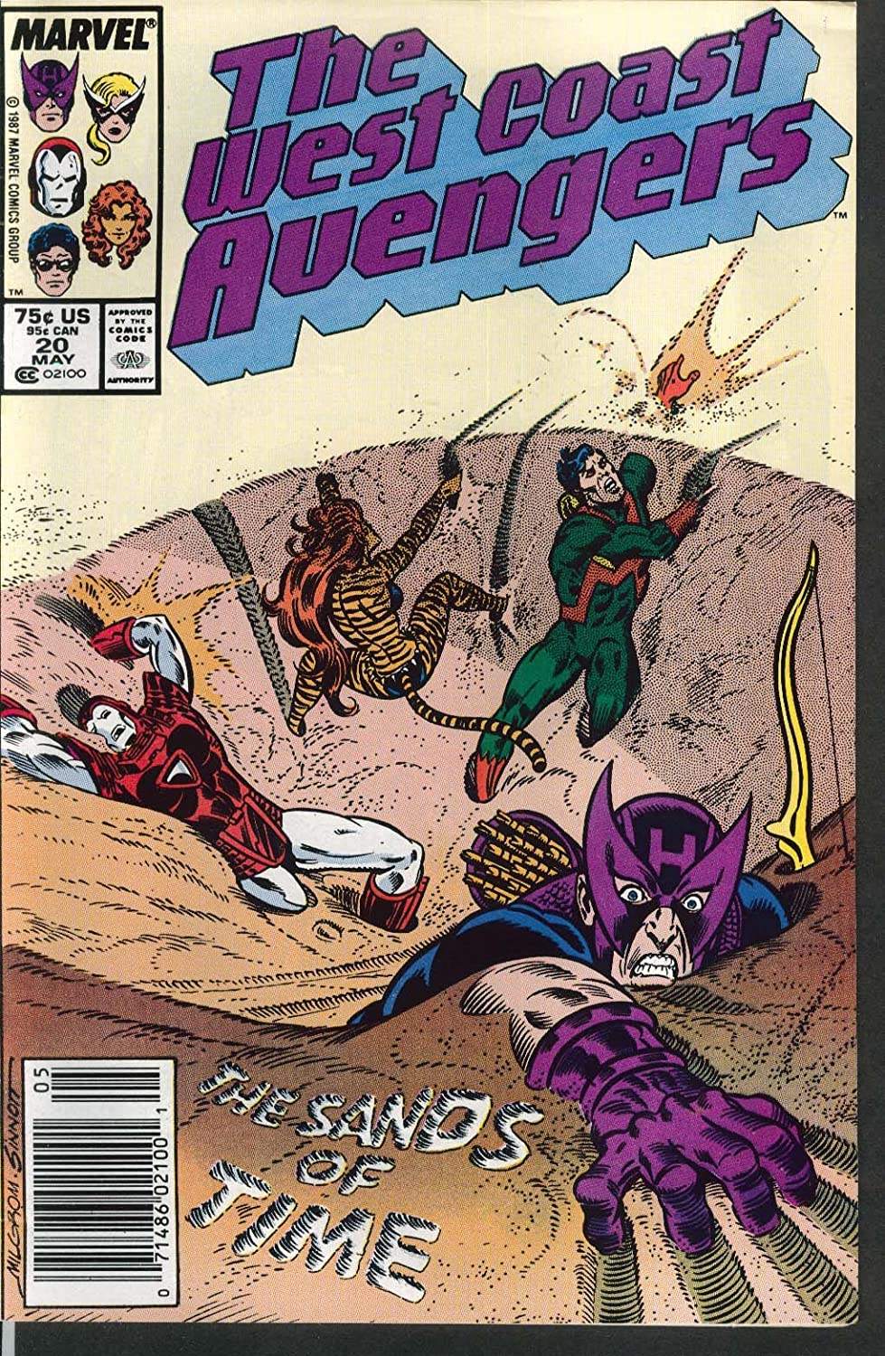 WEST COAST AVENGERS #20 Marvel comic book 5 1987 at Amazons Entertainment Collectibles Store