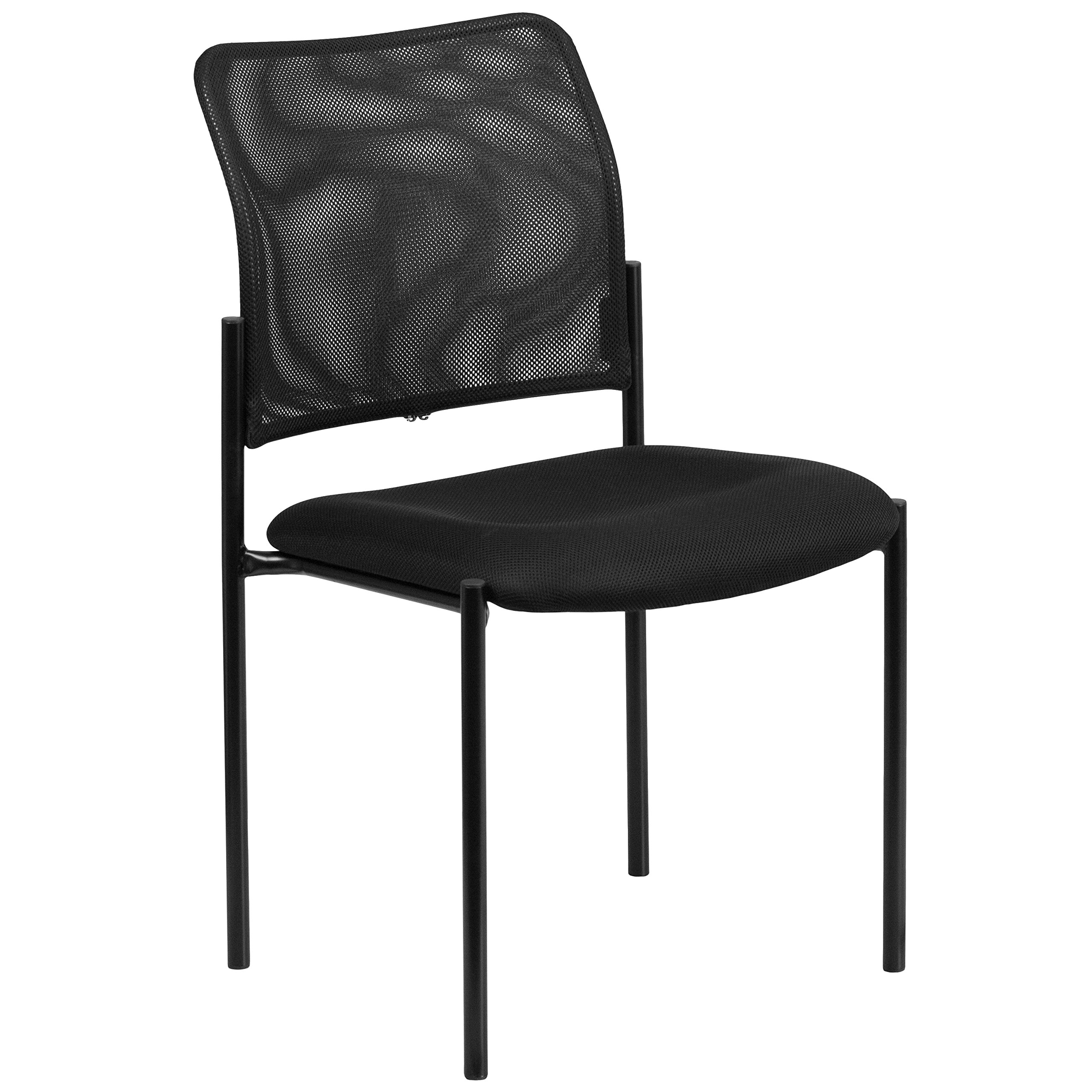 Flash Furniture Comfort Black Mesh Stackable Steel Side Chair by Flash Furniture