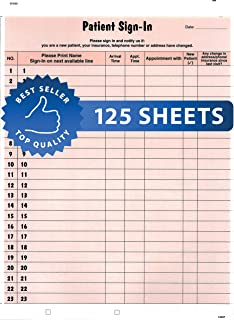 Amazon Com Patient Sign In Sheets 8 1 2 X 11 Blue