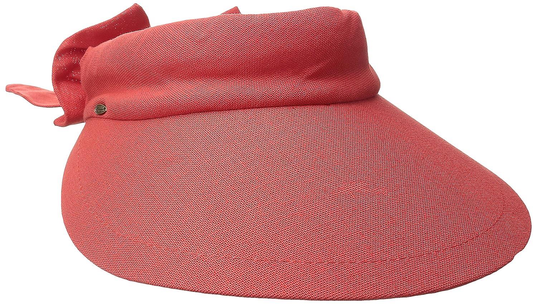 Scala Women's Visor Hat with Big Brim (Coral)