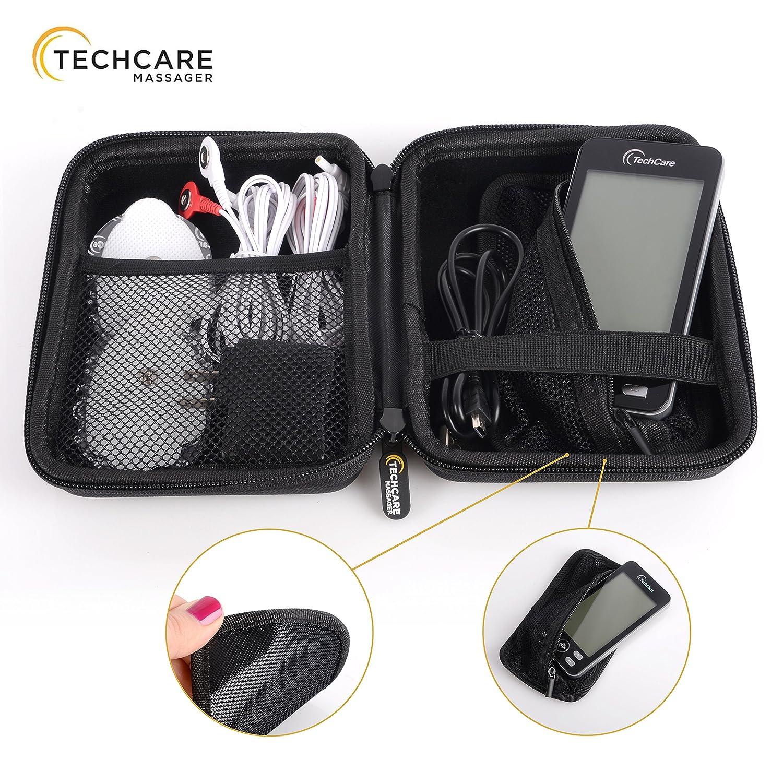 Tens Unit TechCare Plus 24 Massager [Lifetime Warranty] Muscle Stimulator Device Machine Pulse Massager with Protective Cover Case Sciatica Plantar ...