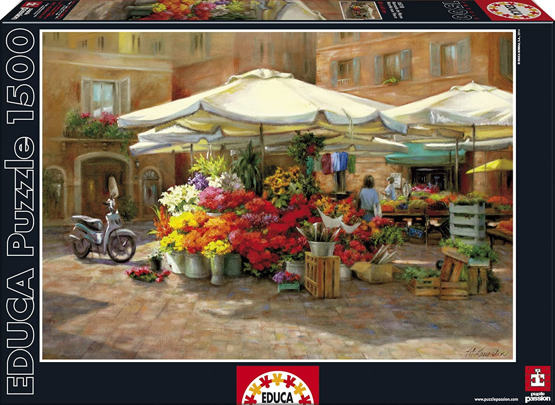 Puzzles Educa - Mercado de flores, puzzle de 1500 piezas (16010 ...