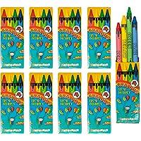 Bulk 50 Pakjes Waskrijt - elk met 4 Verschillende Kleuren per Pak - Ideaal Speelgoed voor Feestsouvenirs en Traktaties…