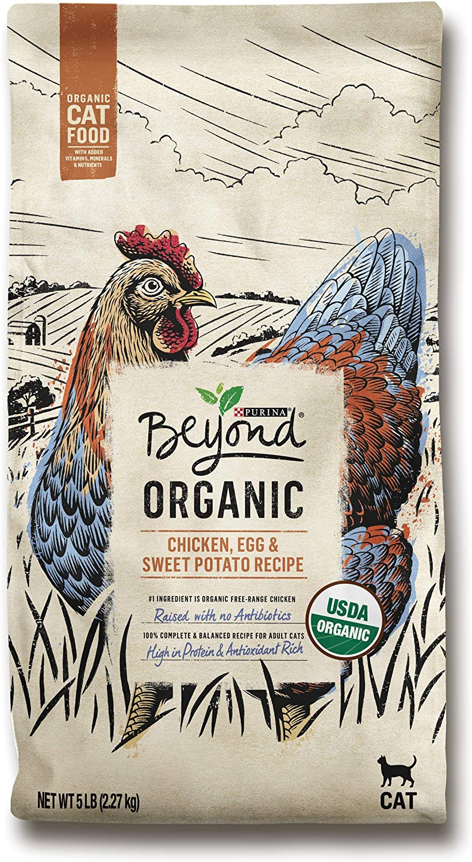 Purina Beyond High Protein Adult Dry Cat Food, Organic Chicken, Egg & Sweet Potato Recipe - 5 lb. Bag