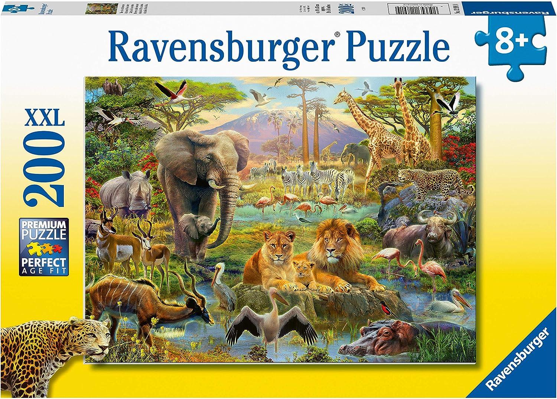 Ravensburger- The Jungle Rompecabeza de 200 Piezas XXL, Multicolor (12891)