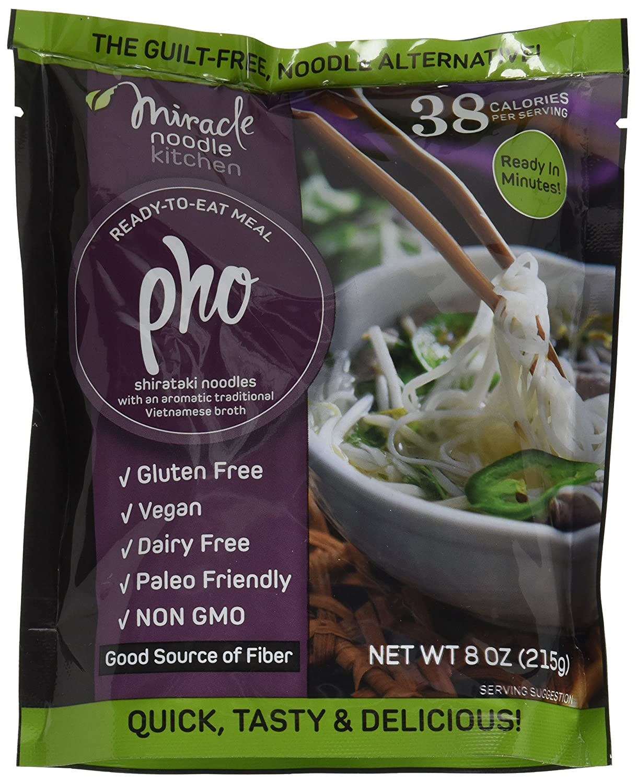 Miracle Noodle Ready to Eat Vegan Pho Meal, Shirataki Noodles, Pasta Alternative, Gluten Free, Paleo Friendly, 10 oz (Pack of 6)