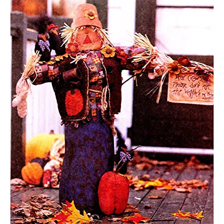 McCall\'s #9448 Scarecrow Greeter with Pumpkin & Crows Craft Sewing ...