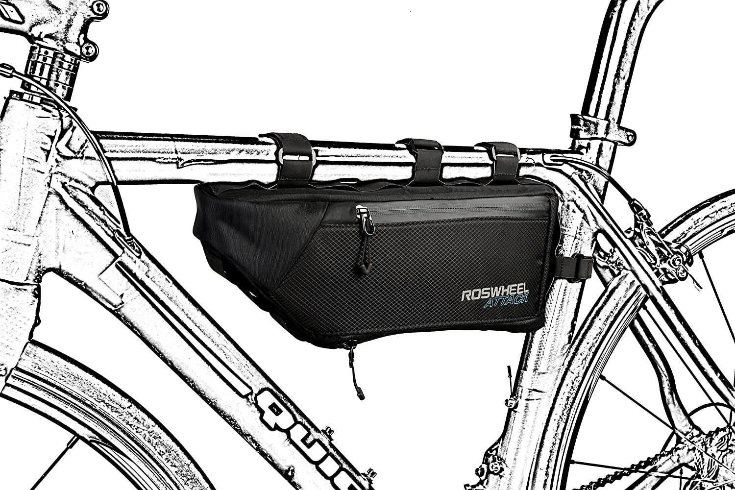 MTB Bicycle Top Tube Bag CestMall Bike Bag 1L Capacity Waterproof Cycling Front Frame Pannier Pouch Carrier Bags Bicycle Accessories for Outdoor