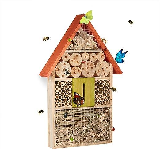 Relaxdays Casa para Insectos, Naranja, 7x31x48.5 cm, 10020737_57 ...
