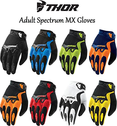 Wulfsport Adult Stratos MX Motorbike Gloves Motocross Sports Off Road Racing Gloves Orange XXL