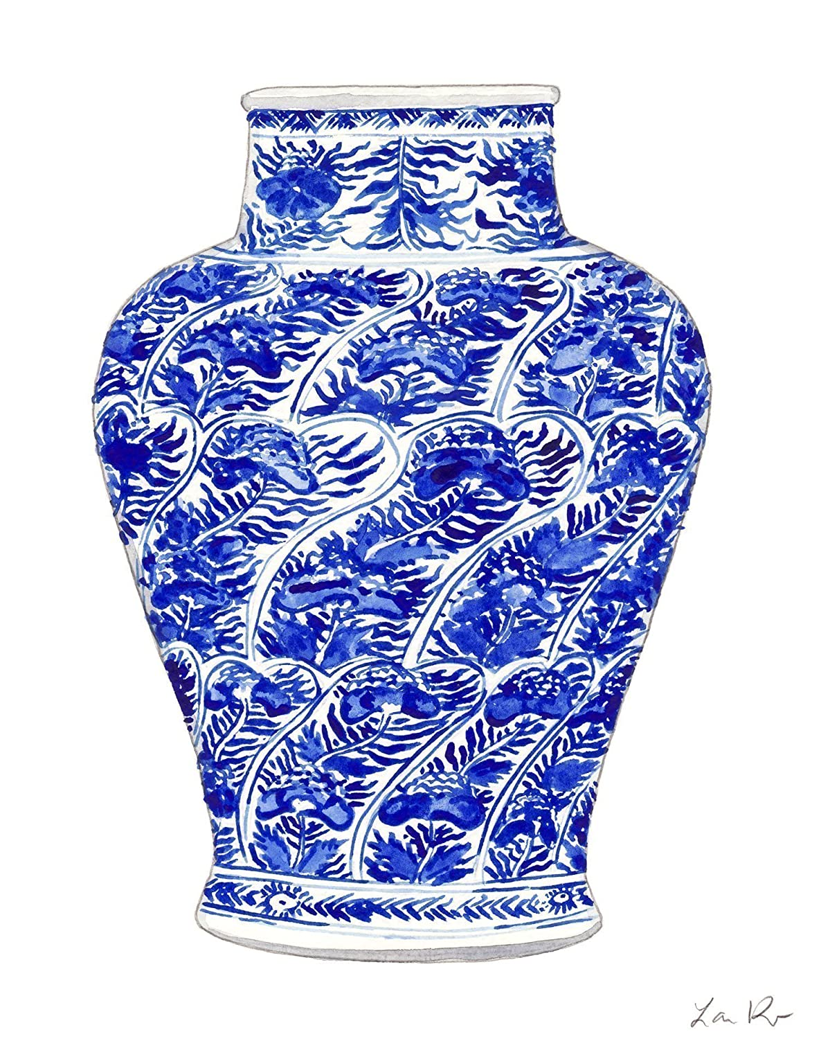 0af92575042 Amazon.com  Blue and White China Vase Art 5 Blue and White Chinoiserie Art  Chinoiserie Painting Chinese Wall Decor Chinese Art Print Asian Wall Decor  ...