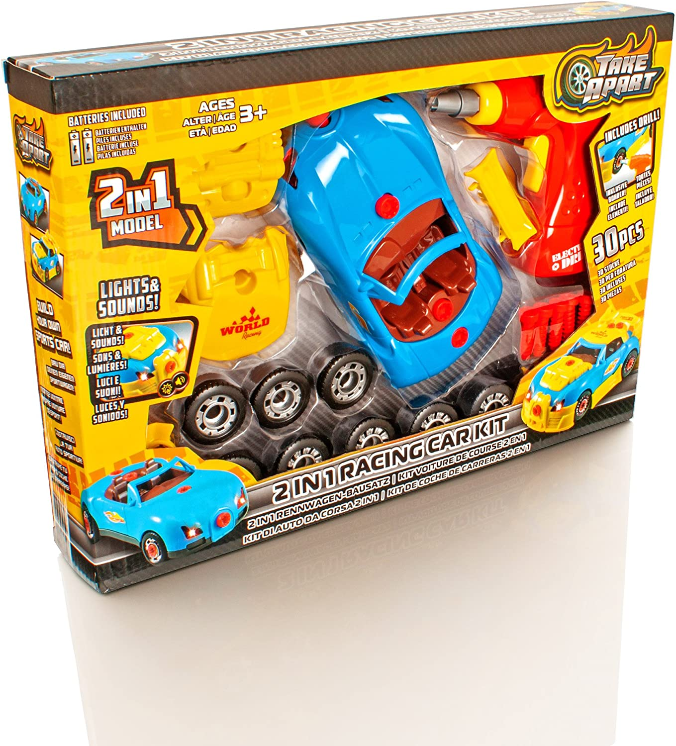 Assembly Take Apart Race Car Construction Toys Kit Tools Sounds Kids Funny Toy
