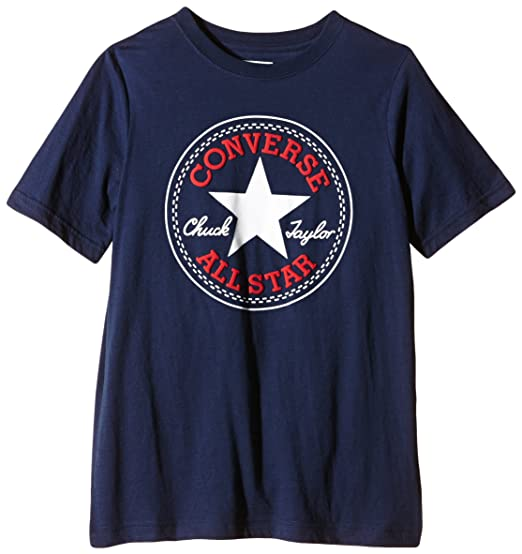 d7cd7d64a588 Converse Jungen T-Shirt Chuck Patch Tee  Amazon.de  Bekleidung