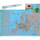 blupalu I XXL Europakarte Zum Rubbeln mit Länder-Flaggen I Rubbel-Chip I Landkarte Zum Freirubbeln I die Besten Sehenswürdigkeiten I 89 x 59 cm   Deutsch   Poster