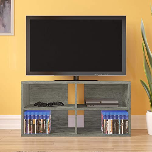 Way Basics Modular Media Console TV Stand Expandable Entertainment Center Tool-Free Assembly and Uniquely Crafted from Sustainable Non Toxic zBoard Paperboard