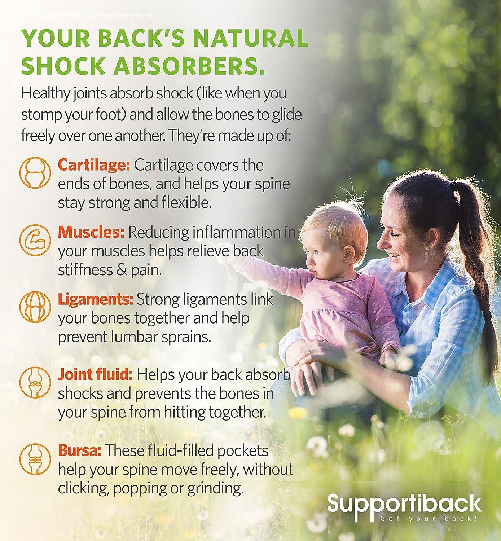 Supportiback® Natural Back Complex | Complejo Natural para la Espalda y Articulaciones | Glucosamina, Condoitrina, Curcumina, MSM | Formulado por Doctores: ...