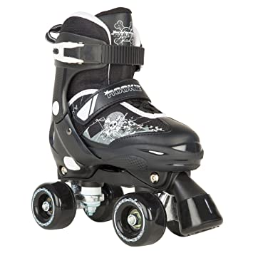Rookie Adjustable Pulse Junior SML 8-11 Patines con 4 Ruedas, Unisex niños, Negro/Blanco, 25 1/2-29: Amazon.es: Deportes y aire libre
