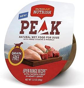 Rachael Ray Nutrish PEAK Nutrient Dense Wet Dog Food, 3.5 Ounce Tubs, Grain Free