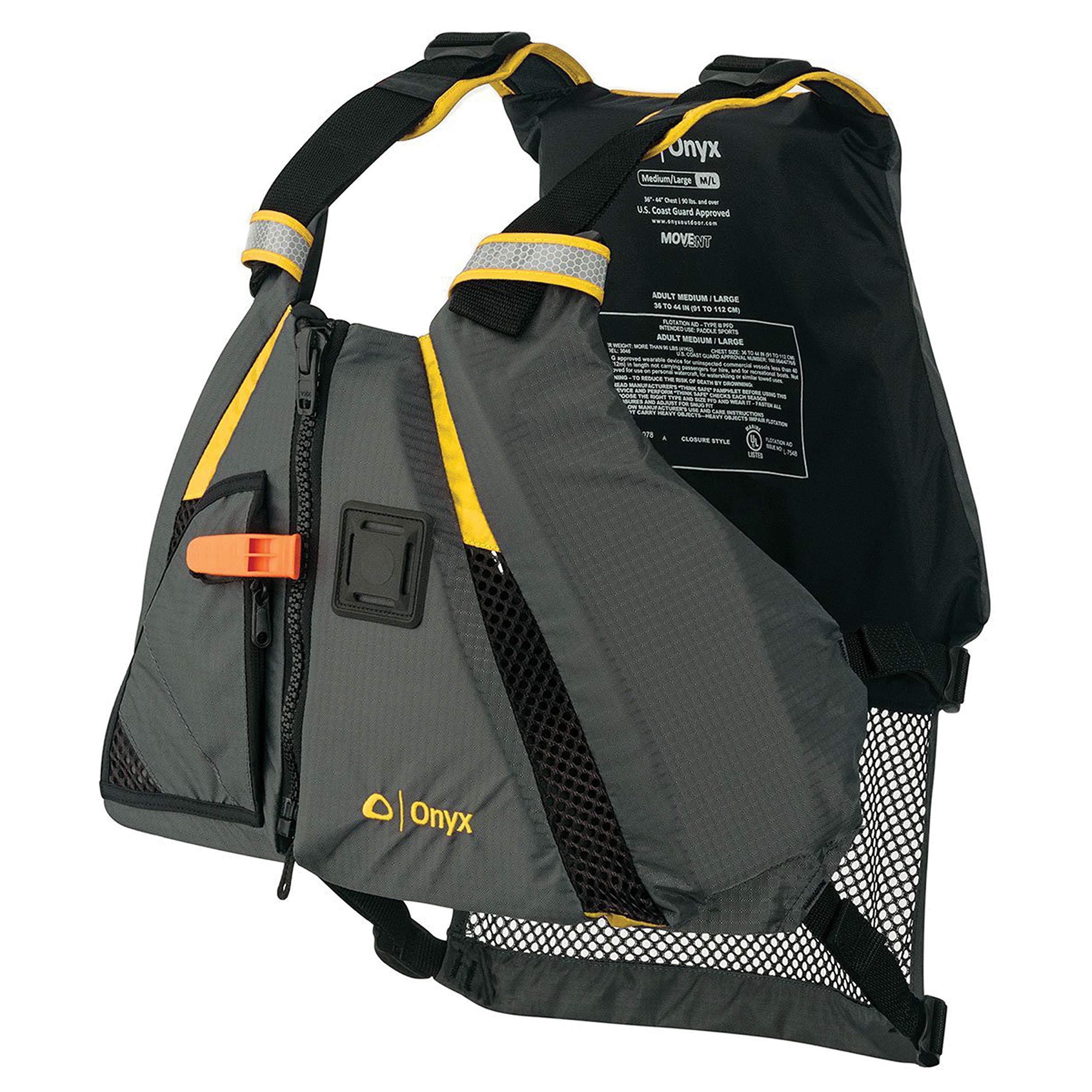 Onyx 122200-300-020-18 MoveVent Dynamic Vest Adult Yellow XS/SM by Onyx