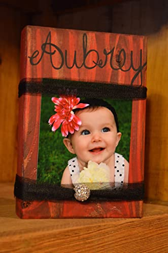 Amazon.com: Block Photo Frame, Photo Display, Wood Block Picture ...