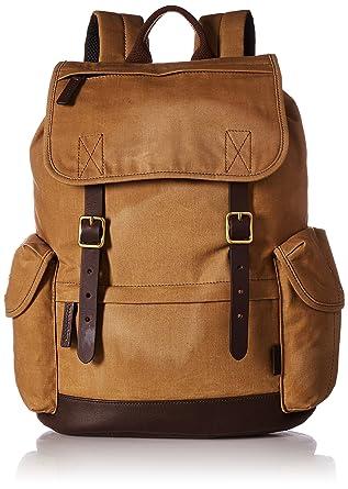 ac72f7ee9cb0 Fossil Men s Buckner Leather Trim Rucksack Backpack