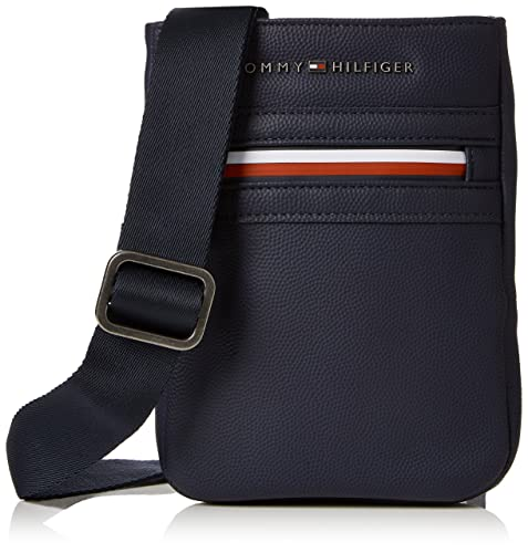 2714147d Tommy Hilfiger Essential Compact Crossover Ii, Bolso Bandolera para Hombre,  Azul (Tommy Navy), 15x20x3 cm