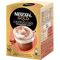 NESCAFE GOLD CAPPUCCINO unsweetened Instant Foaming Coffee Mix Sachet 14.2g  (10 Sachets)