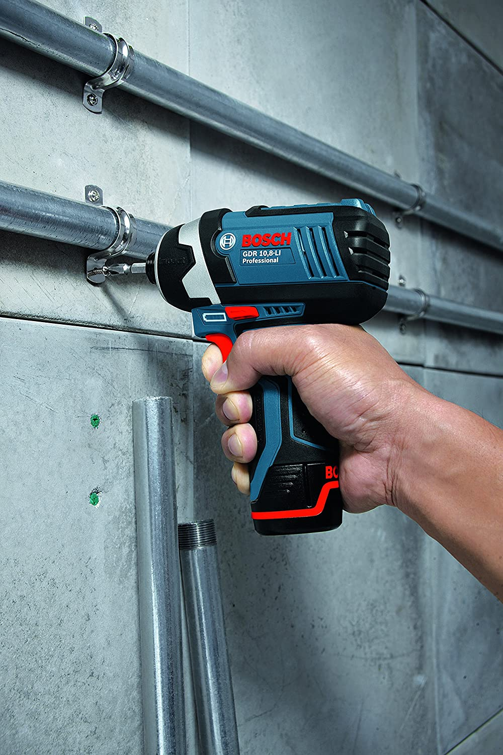 L-Boxx Bosch Professional GDS 12V-115 Cordless Impact Wrench with Two 12 V 2.5 Ah Lithium-Ion Batteries