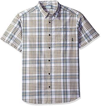 d8af5a23ccb Columbia Men's Thompson Hill Ii Yarn Dye Shirt, British Tan Grid Medium