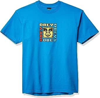 OBEY Men's Classic SS Box Deviant Device Heavyweight TEE, SPRINTBLUE