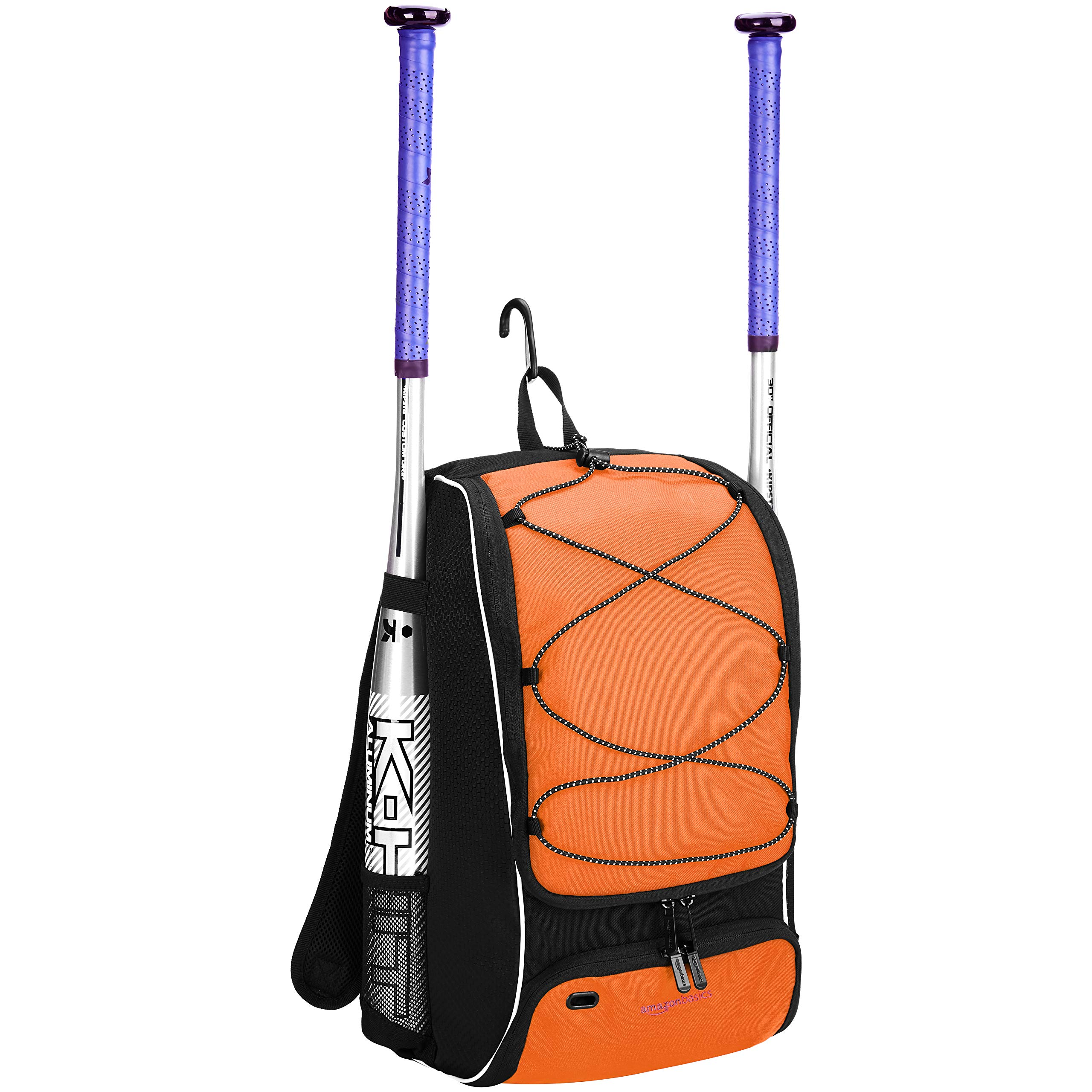 AmazonBasics Youth Baseball Equipment Backpack, Orange by AmazonBasics (Image #2)