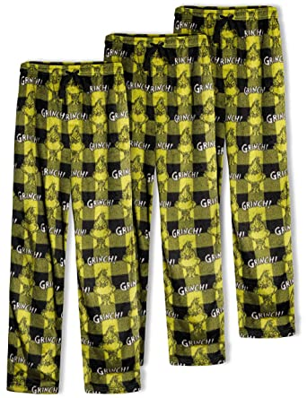 8c66c7b6119 Dr. Seuss Men s Grinch Buffalo Plaid Pajama Bottom at Amazon Men s Clothing  store