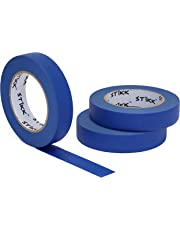 """3pk 1"""" x 60yd STIKK Blue Painters Tape 14 Day Clean Release Trim Edge Finishing Masking Tape (.94 in 24MM) (3 Pack) …"""