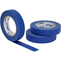"""3pk 1"""" x 60yd STIKK Blue Painters Tape 14 Day Clean Release Trim Edge Finishing Masking Tape (.94 IN 24MM) (3 Pack)"""