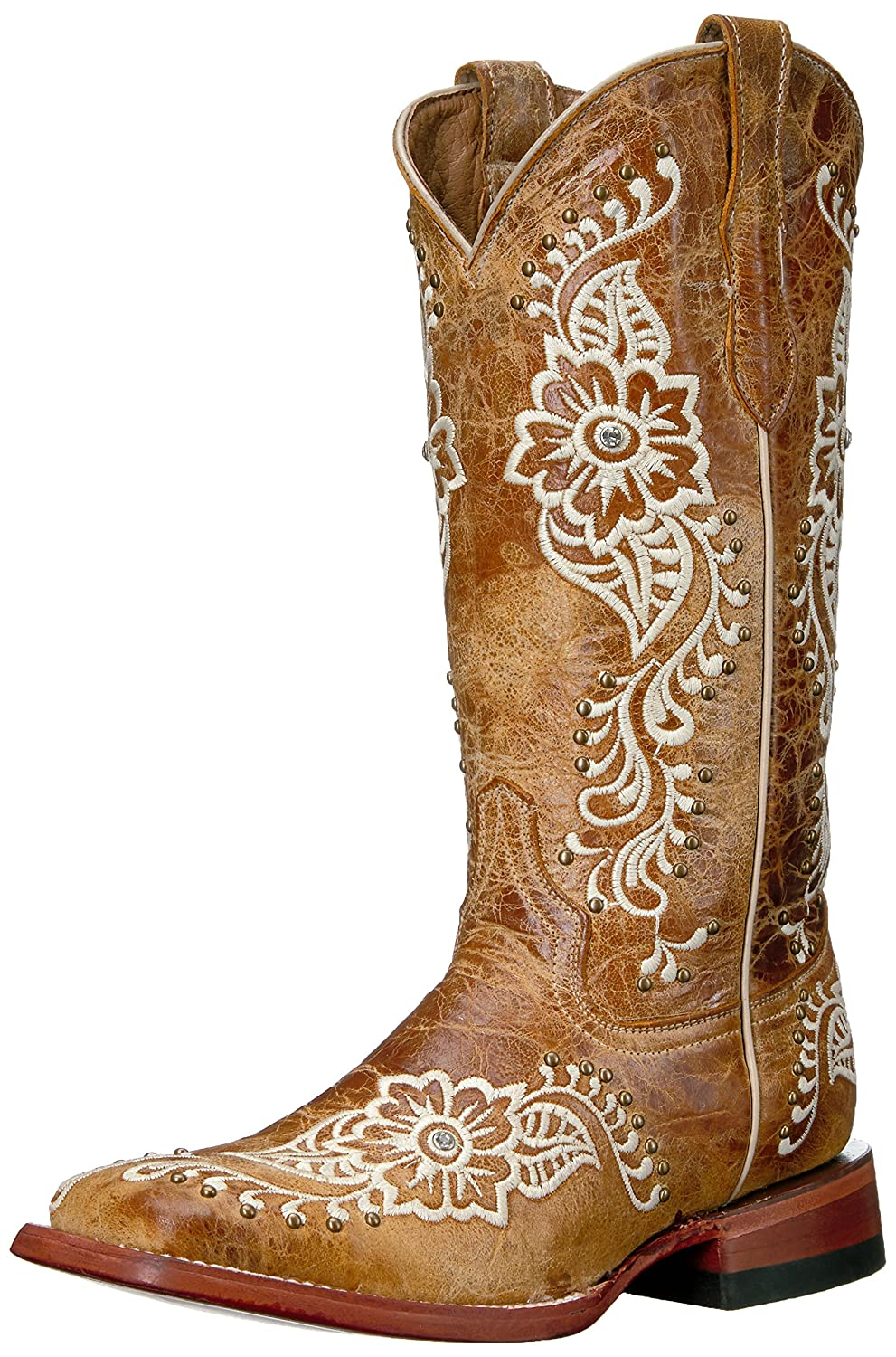 daphne pthc Ferrini Women's Ladies Wild Flower A/s Square Toe Western Boot outlet