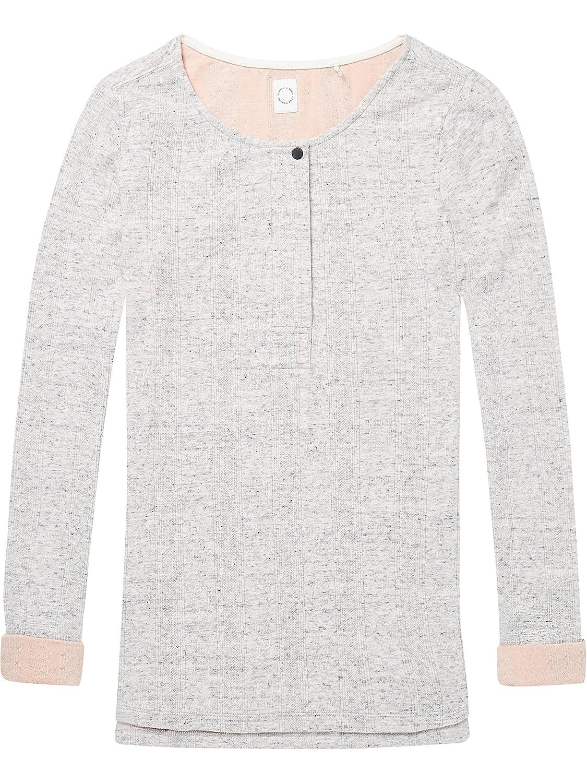 TALLA S. Scotch & Soda Club Nomade Bonded Long Sleeve Granddad tee Camiseta para Mujer