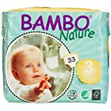 Bambo Nature Premium Baby Diapers, Size 3, 198 Count,  (Pack of 6)