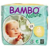 Amazon Price History for:Bambo Nature Premium Baby Diapers, Size 3, 198 Count (6 Packs of 33)