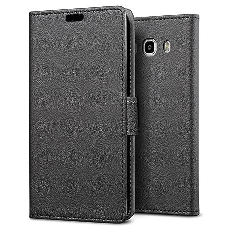 SLEO Funda para Samsung Galaxy J5 (2016) Cartera Carcasa Piel PU Suave Flip Folio Caja Super Delgado [Estilo Libro,Soporte Plegable y Cierre ...