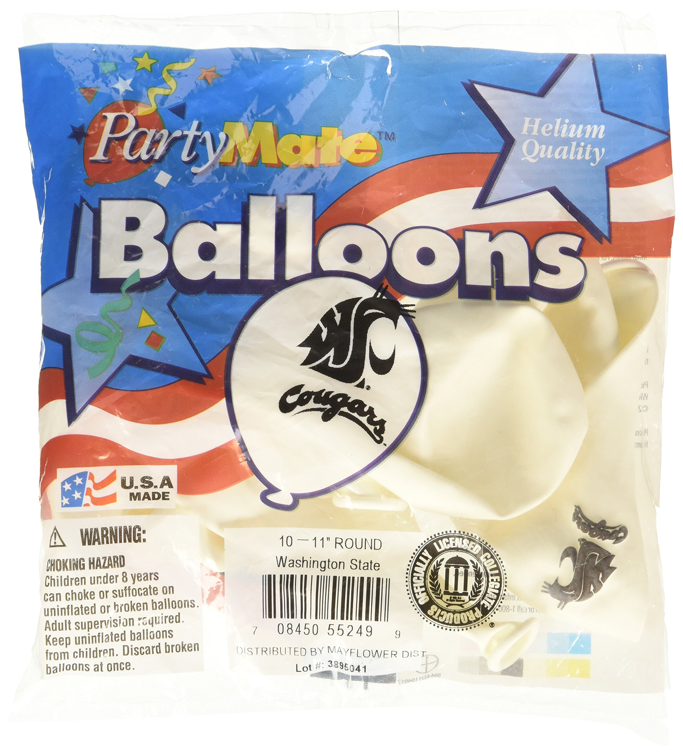 Pioneer Balloon Company 10 Count Washington State Latex Balloon, 11'', Multicolor