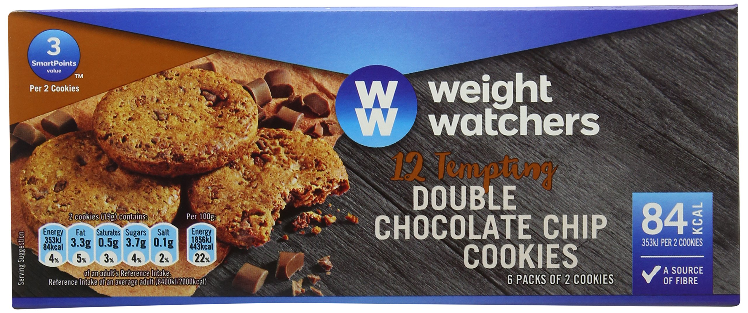 WeightWatchers Double Choc Chip Cookies 114 g (Pack of 10)