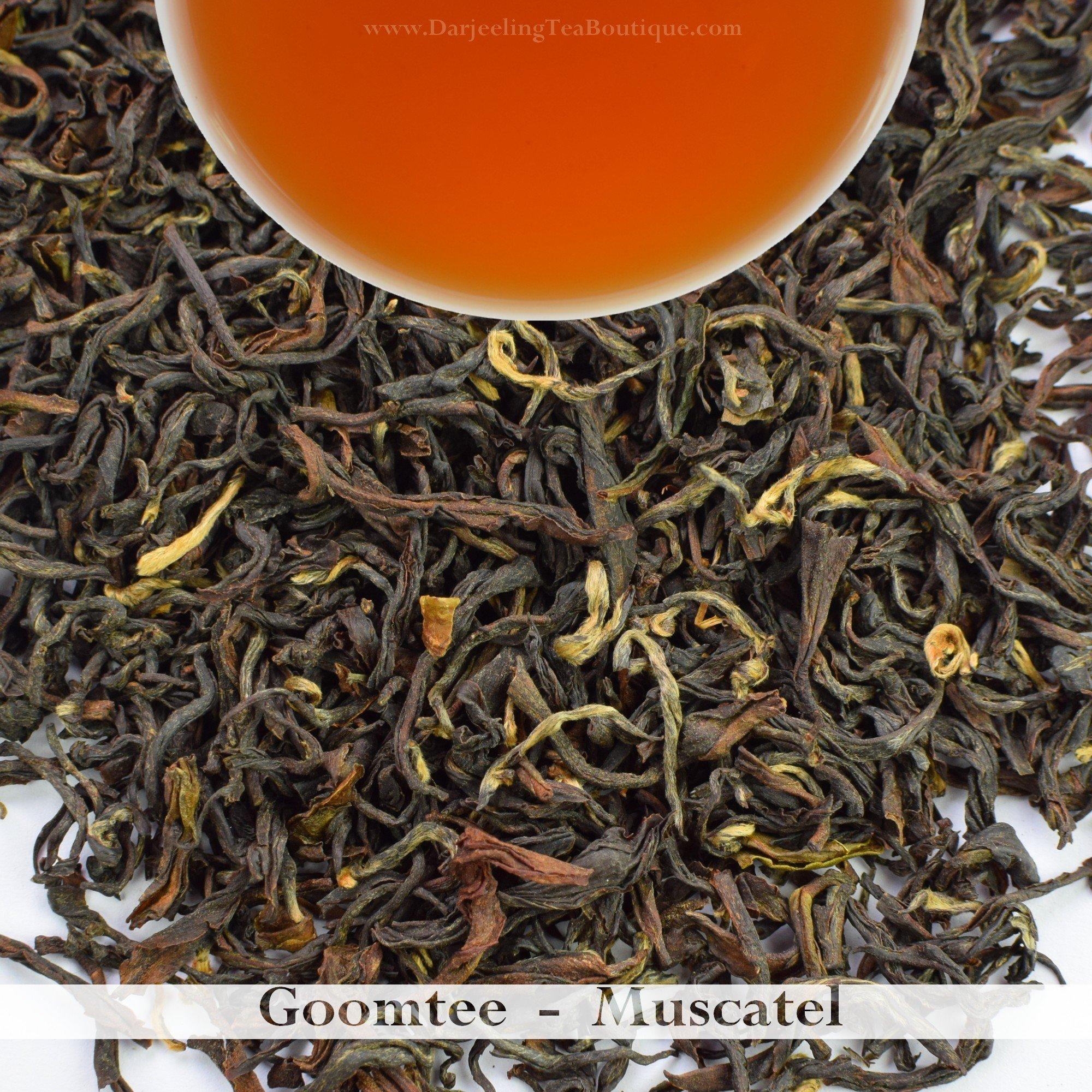Bulk Wholesale Pack - 2017 Darjeeling Second Flush Tea | Goomtee | 500gm (17.63oz) | Muscatel Flavor, Complex Tastes | Darjeeling Tea Boutique