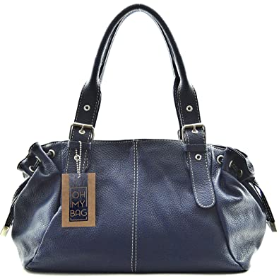 OH MY BAG Sac à main cuir Princesse bleu fonce SOLDES  Amazon.fr ... d585901029f1
