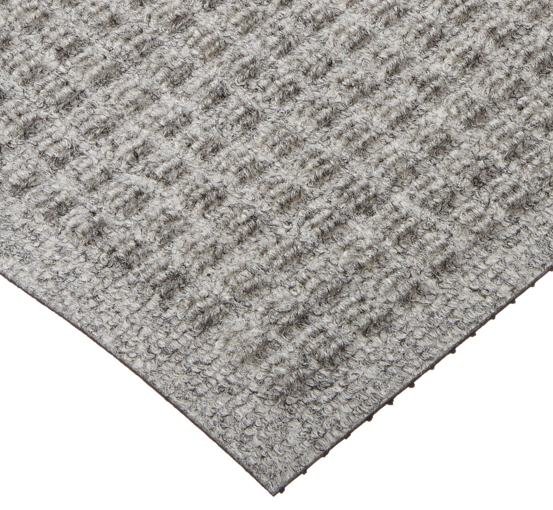 M+A Matting 250 WaterHog Drainable Polypropylene Entrance Outdoor Floor Mat, 3' Length x 2' Width, Medium Grey